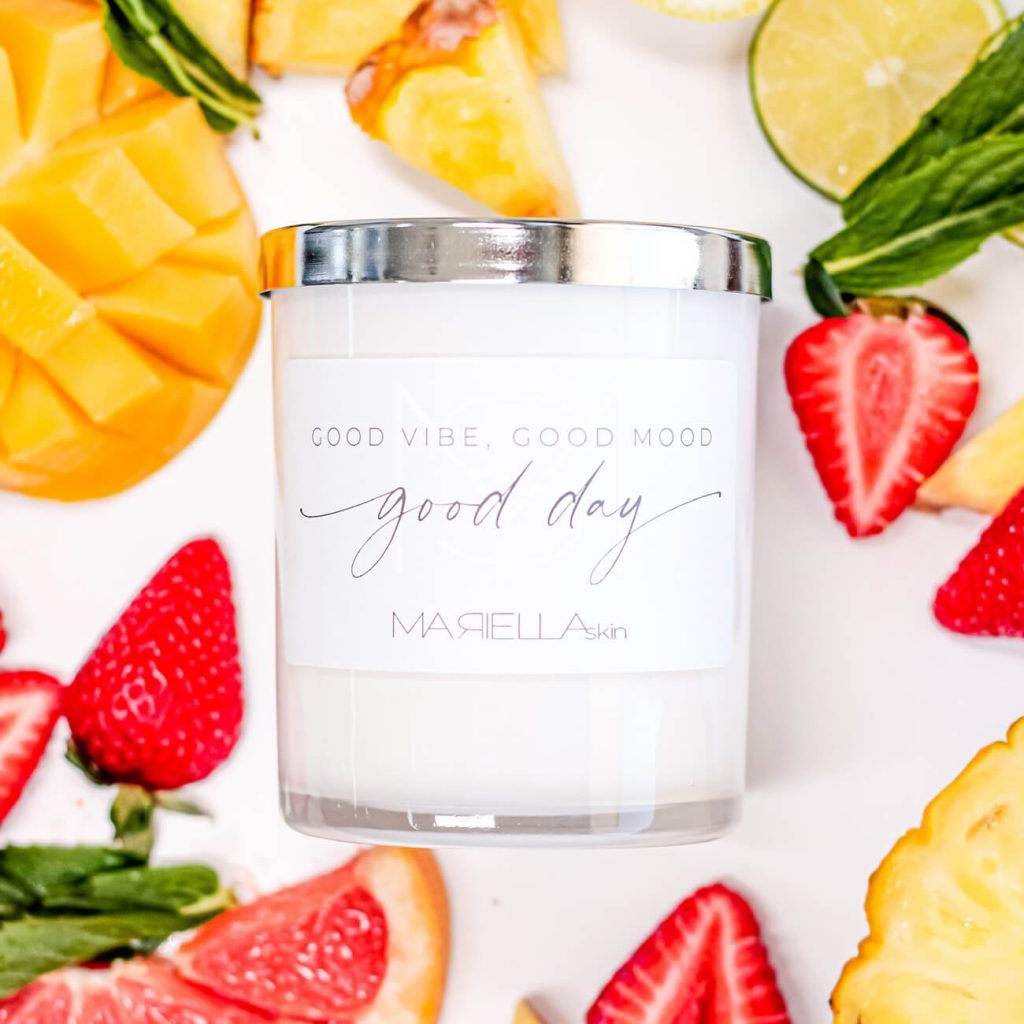 Perth summer fruit soy wax candle handmade in WA | MARIELLA skin Perth WA
