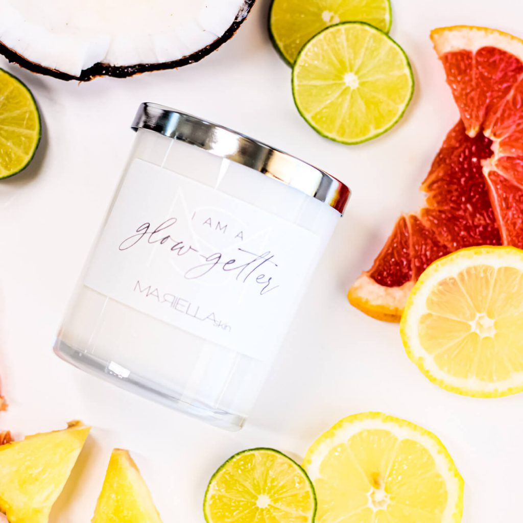 Citrus & Cocount Soy Wax Candle | Handmade in WA | MARIELLA skin Perth WA