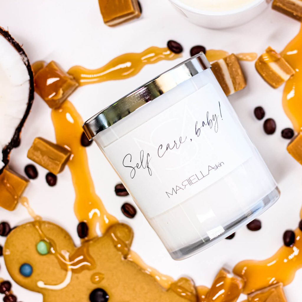 Salted caramel & fudge soy wax candle | MARIELLA skin Perth WA